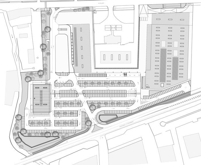 plantimetria costruzione centro commerciale bricoman san fior impresa costruzioni treviso lovisotto