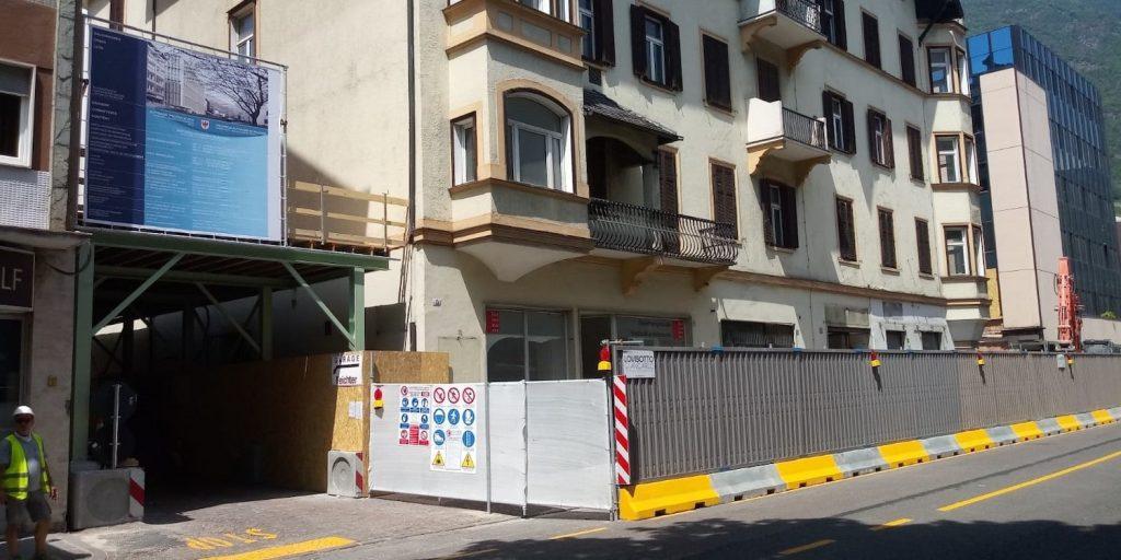 demolizione palazzo christanell bolzano nuova sede uffici ripartizione