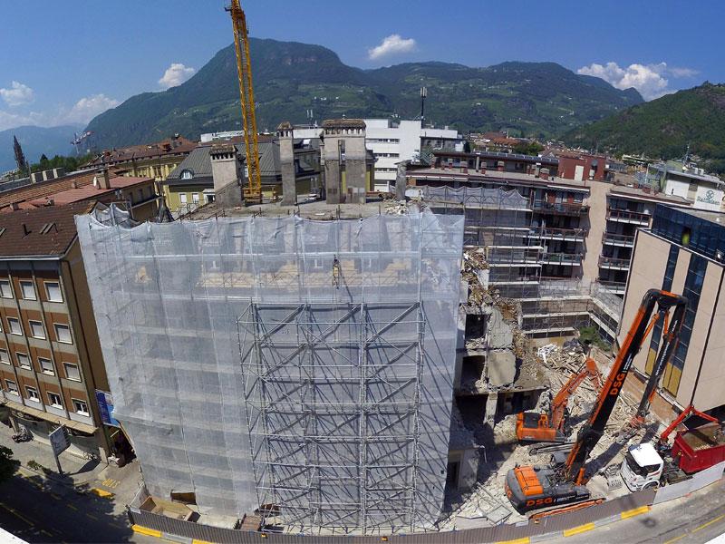 demolizione sede personale provincia Bolzano
