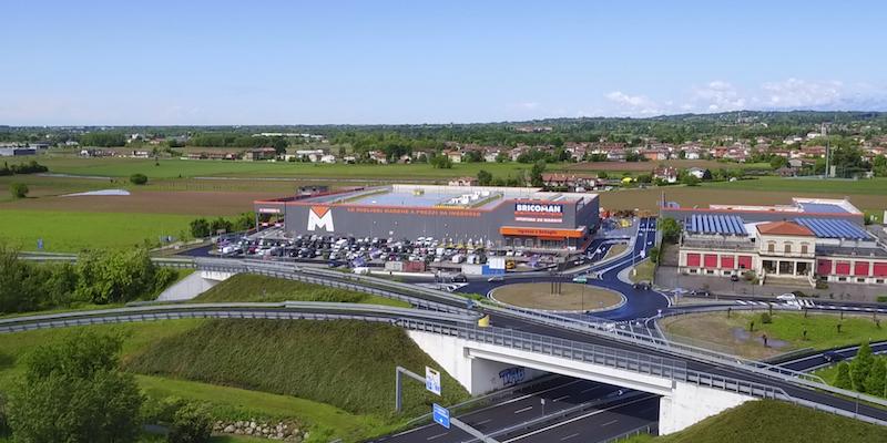 costruzione centro commerciale bricoman udine